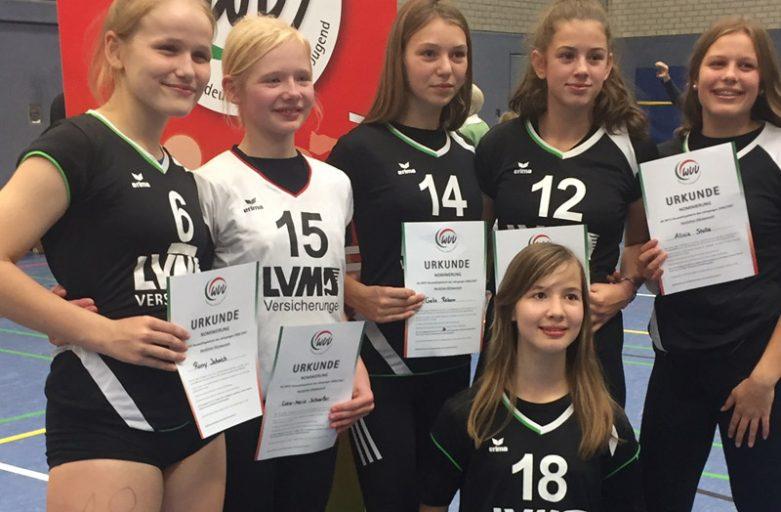 Nachwuchsspielerinnen in der WVV-Auswahl